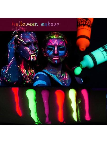 Флуоресцентная неоновая краска с ярким свечением в темноте