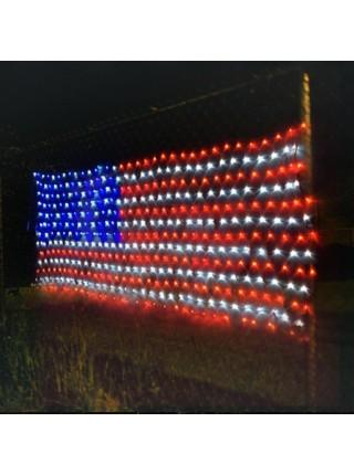 Светодиодное украшение из гирлянд USA American flag