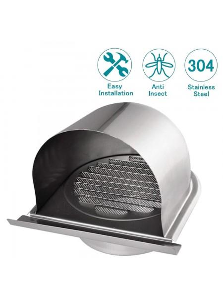 Решетка вентиляционная диффузор с сеткой из нержавеющей стали