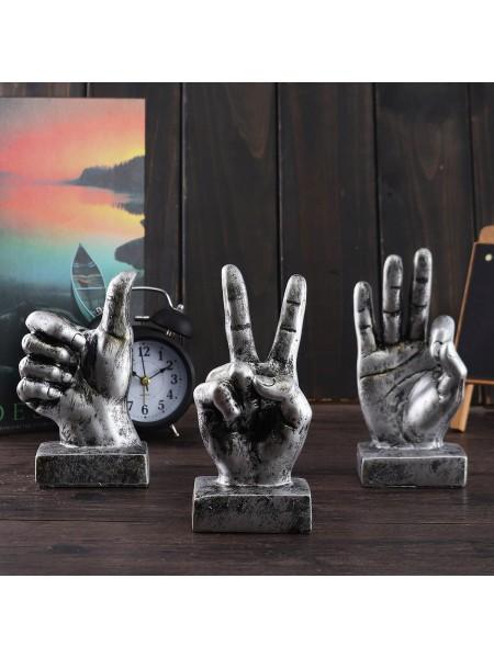 Смолистые настольные статуи скульптуры жесты рук