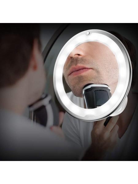 Увеличительное зеркало с подсветкой для макияжа