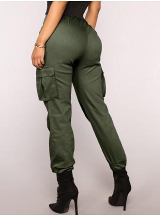 Повседневные женские брюки с карманами