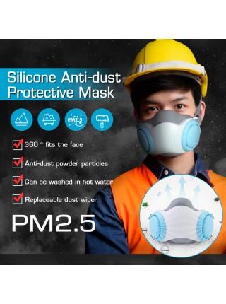 Силиконовая маска респиратор PM2.5 для защиты от пыли и бактерий
