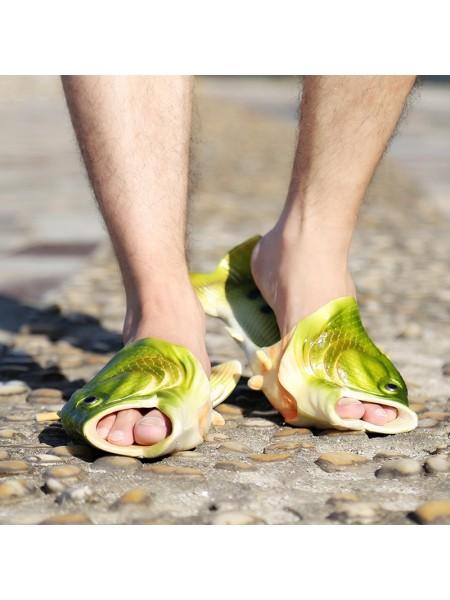 Пляжные тапочки шлепки рыбашаги