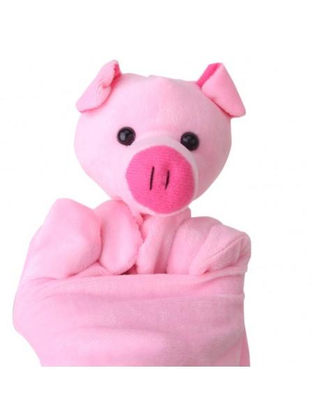 Кукольная пальчиковая перчатка хрюша