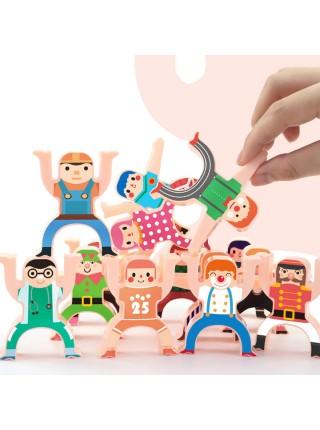 Развивающая игра головоломка для детей баланс равновесия 16 шт