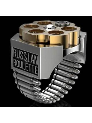 Мужское кольцо русская рулетка