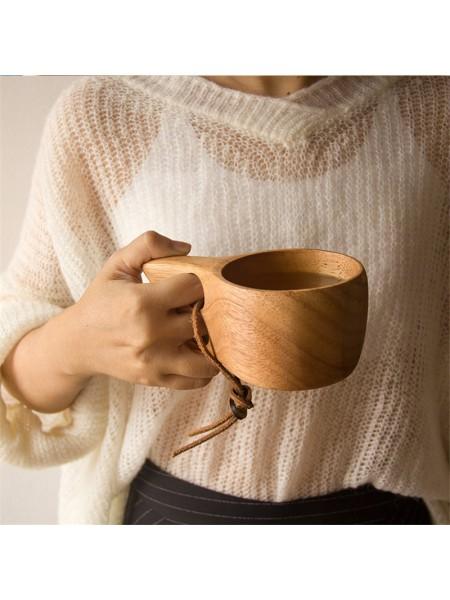 Деревянная кофейная кружка в японском стиле