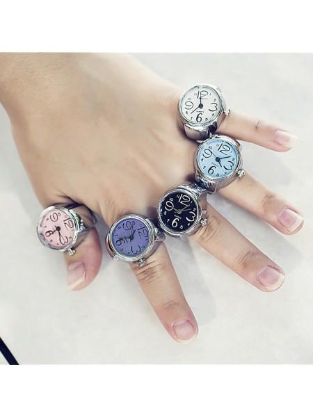 Кварцевые часы кольцо на палец