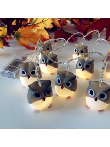 Светодиодные рождественские гирлянды форме совы