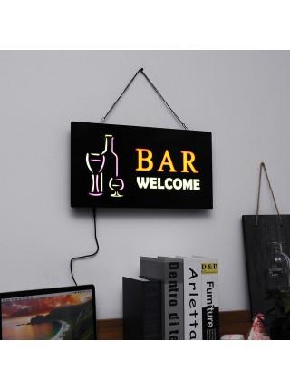 Светодиодная рекламная вывеска Welcome Bar