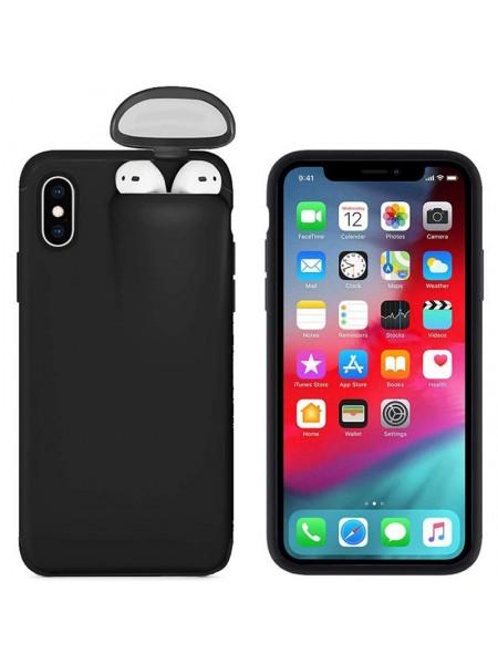 Защитный чехол для iPhone с кейсом Airpods