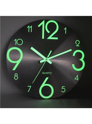 Светящиеся люминесцентные настенные часы
