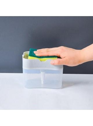 Дозатор для мыла с держателем для губки