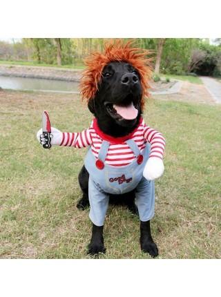 Костюм смертельная кукла чаки для собак