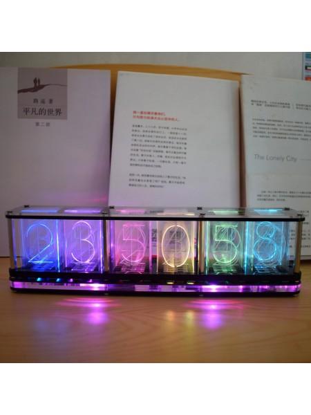 Светящиеся трубчатые часы со светодиодной RGB подсветкой