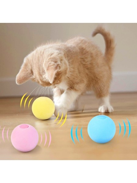 Интерактивный звуковой мяч для игры с кошкой
