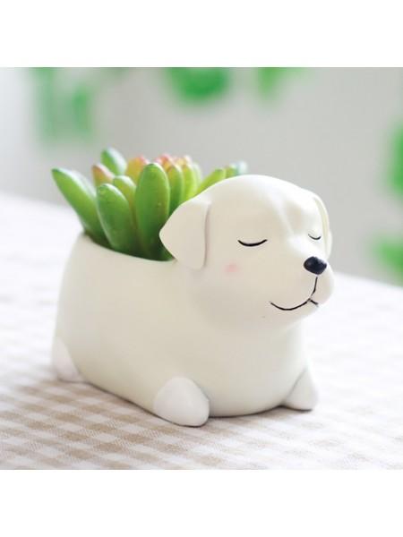 Цветочный горшок собачка