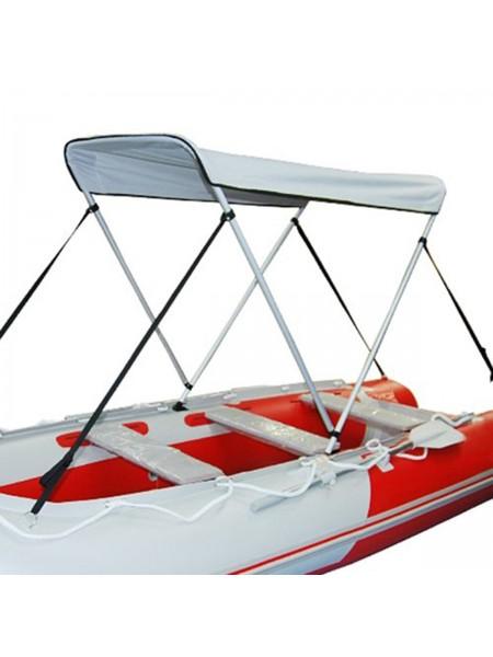 Cолнцезащитный складной навес для надувной лодки