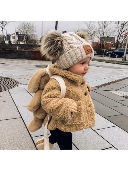 Пальто из овечьей шерсти для малышей