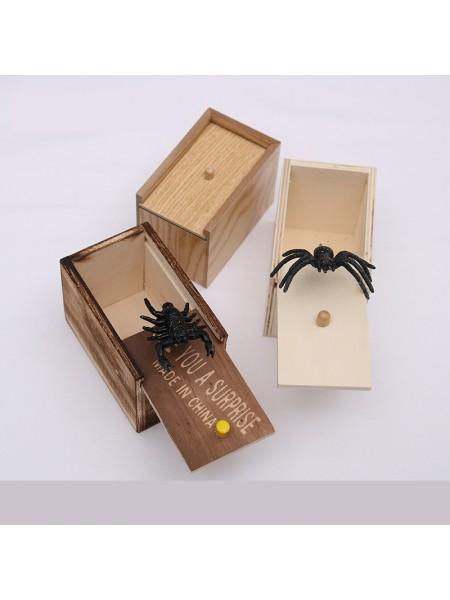 Паук в коробке игрушка розыгрыш