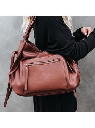 Женская сумка через плечо из искусственной кожи