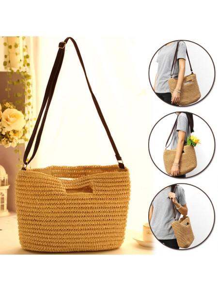 Соломенная летняя пляжная сумка