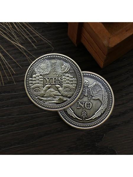 Античная сувенирная монета YES/NO
