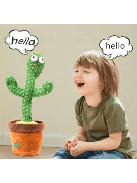 Детская игрушка говорящий кактус