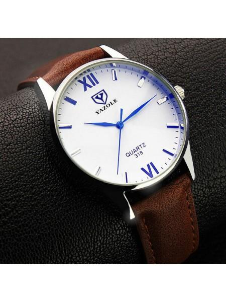 Мужские часы YAZOLE 318 с люминесцентным дисплеем