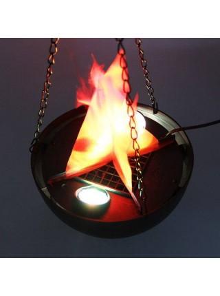 Светодиодный светильник имитирующий горящий костер