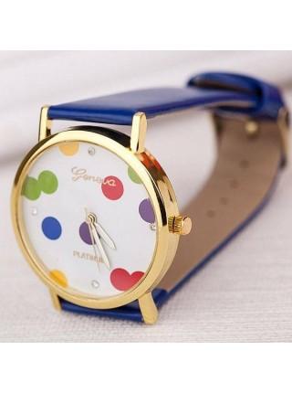 Красочные модные женские часы Geneva