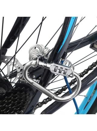 Защитный тросик с кодовым замком от кражи велосипеда или шлема