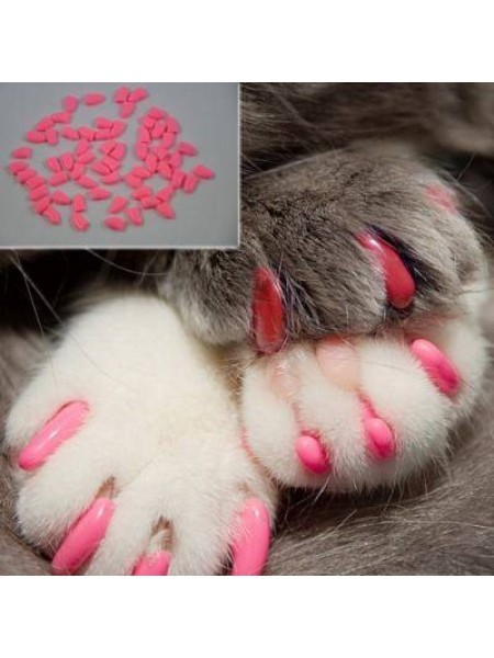 Антицарапки для кошек - мягкие коготки  (20 шт.)