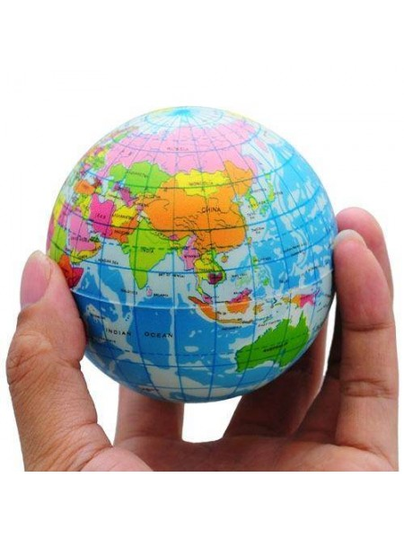 Мягкий мячик всемирный атлас игрушка для снятия стресса