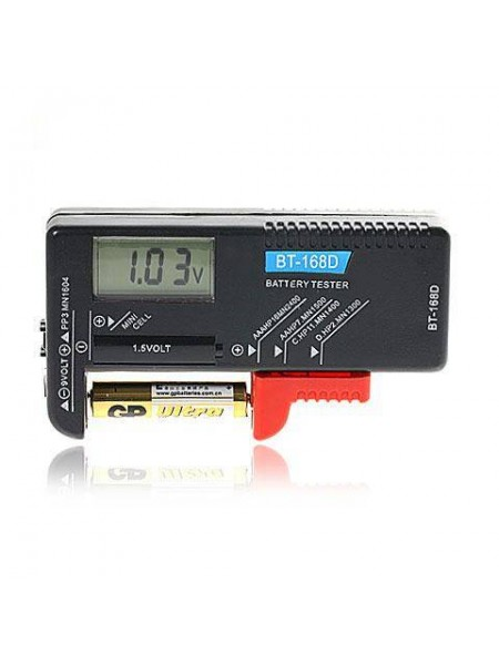 Портативный цифровой мини тестер батареек